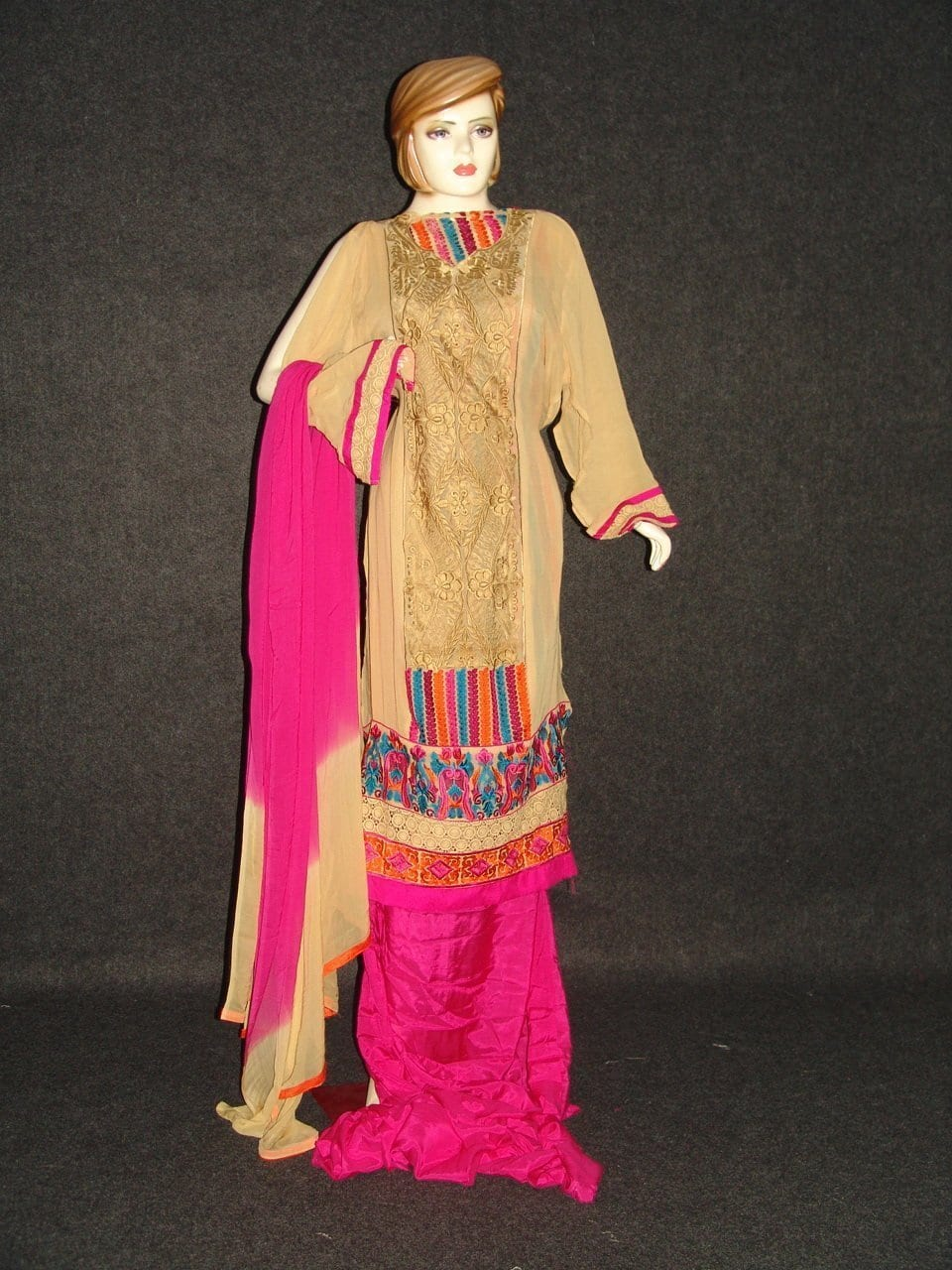 Anarkali Pakistani style Georgette Embr. Pajami Suit M0297 1