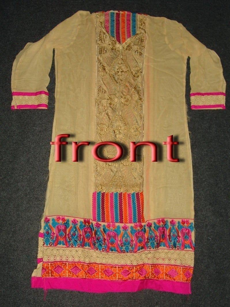 Anarkali Pakistani style Georgette Embr. Pajami Suit M0297 2
