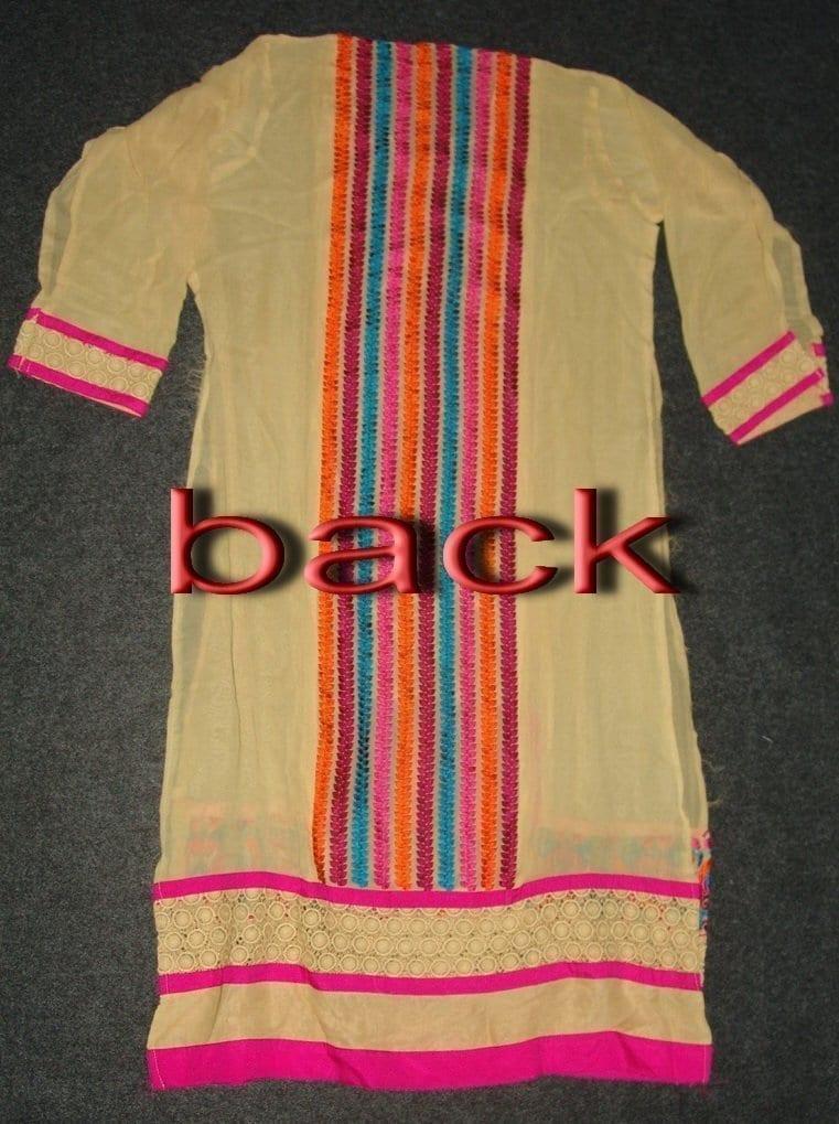 Anarkali Pakistani style Georgette Embr. Pajami Suit M0297 3
