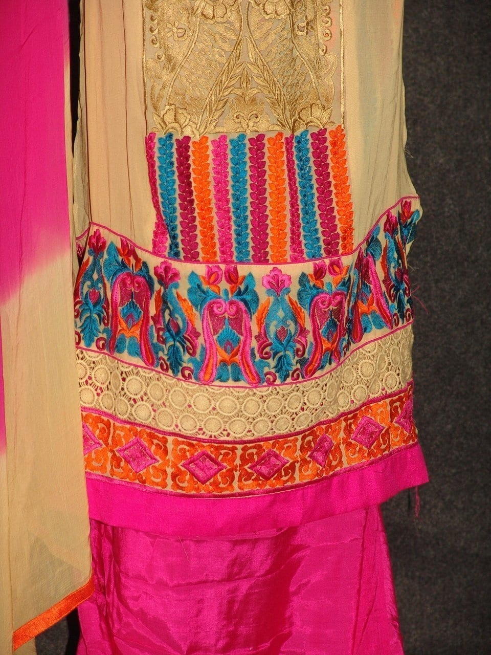Anarkali Pakistani style Georgette Embr. Pajami Suit M0297 4