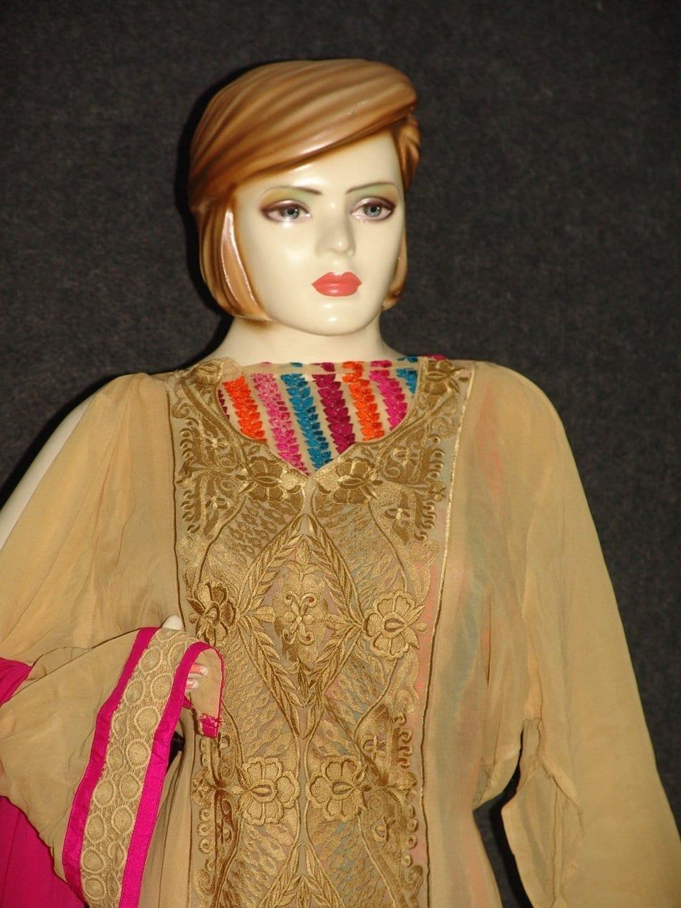 Anarkali Pakistani style Georgette Embr. Pajami Suit M0297 5