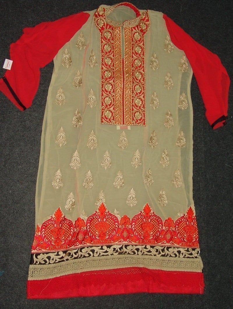 Anarkali Pakistani style Georgette Embr. Pajami Suit M0305