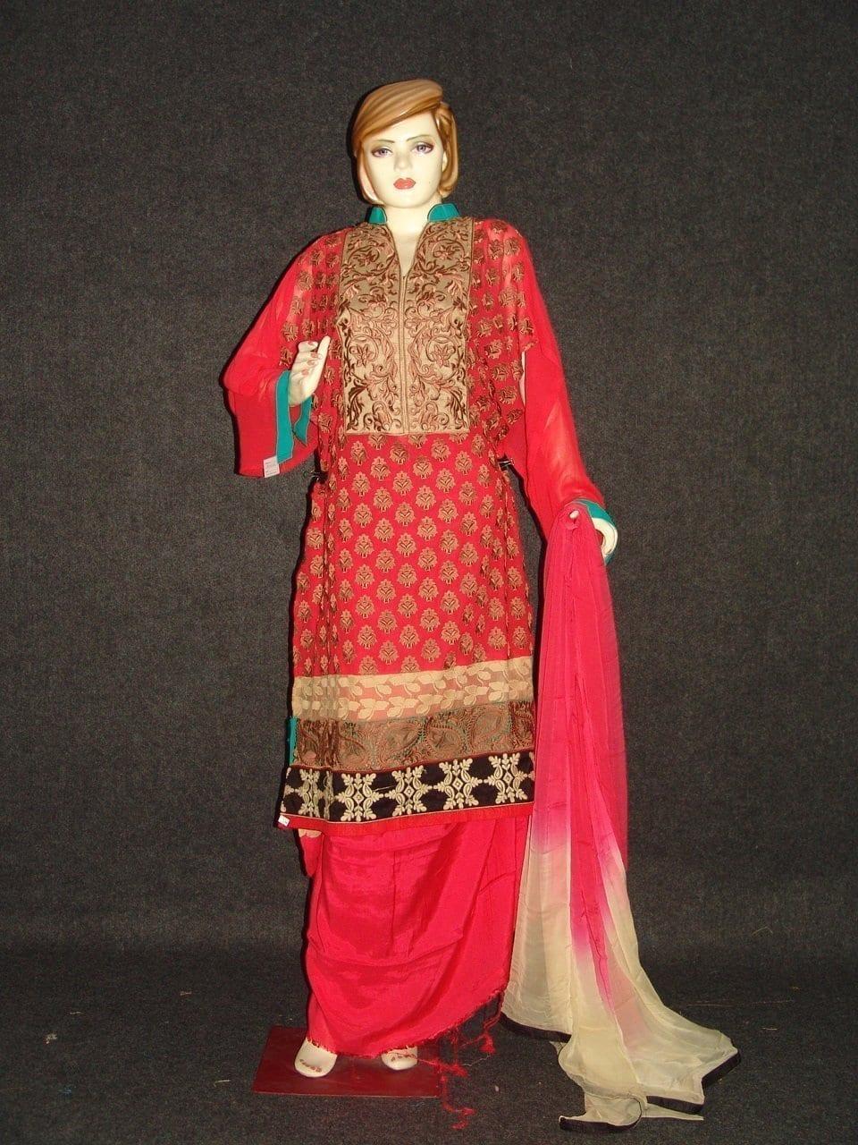 Anarkali Pakistani style Georgette Embr. Pajami Suit M0306 1