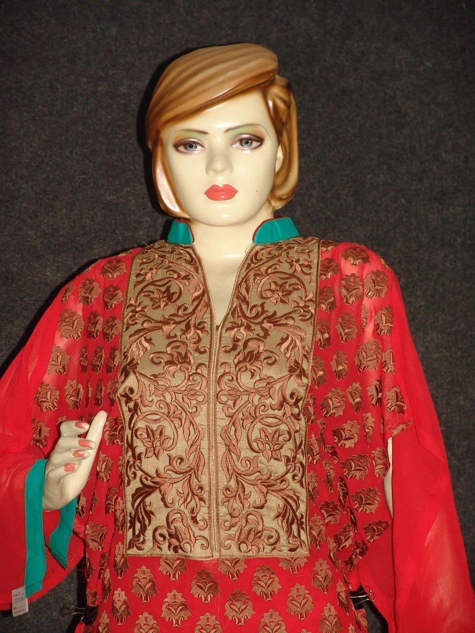 Anarkali Pakistani style Georgette Embr. Pajami Suit M0306 2