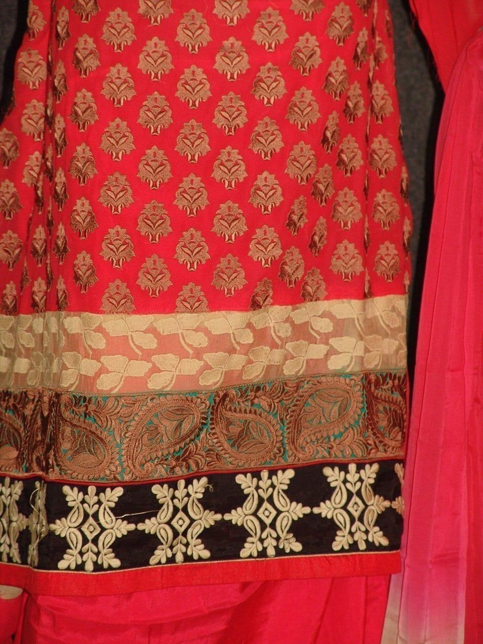 Anarkali Pakistani style Georgette Embr. Pajami Suit M0306 3