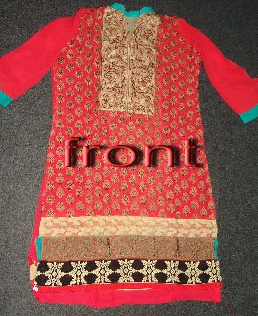 Anarkali Pakistani style Georgette Embr. Pajami Suit M0306 4