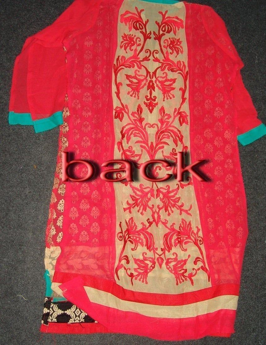 Anarkali Pakistani style Georgette Embr. Pajami Suit M0306 5