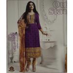 Pakistani style Embroidered Spun Cotswool Pajami Suit Chiffon Dupatta M0312