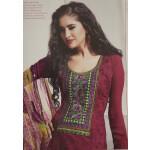 Pakistani style Embroidered Spun Cotswool Pajami Suit Chiffon Dupatta M0314