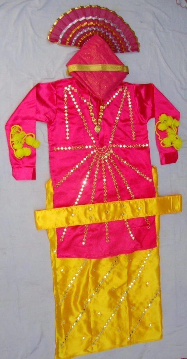 Heavy Mirror Work Bhangra dance costume dress - custom made !!