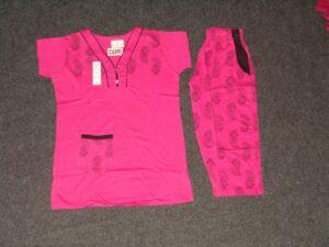Cotton Soft fabric Ladies CAPRI Night Suit with Pocket NS099