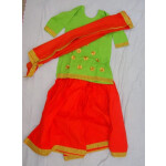 Orange green custom made GIDDHA  Costume outfit dance dress