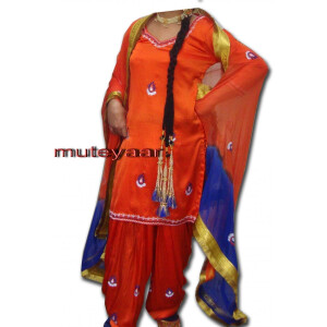 Girl's embroidered Bhangra Costume outfit dance dress !!