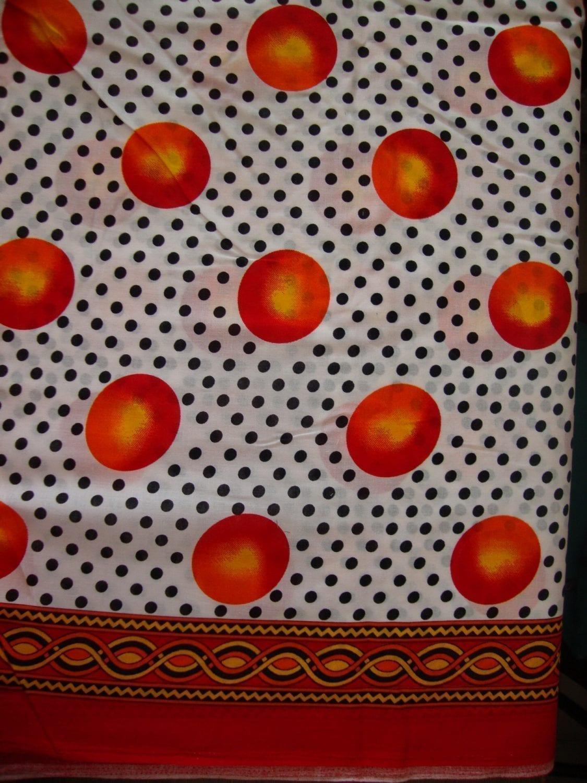 100% PURE COTTON border design fabric PC020 1
