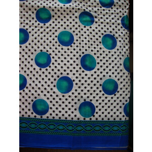 100% Soft PURE COTTON border design fabric for Kurti PC021