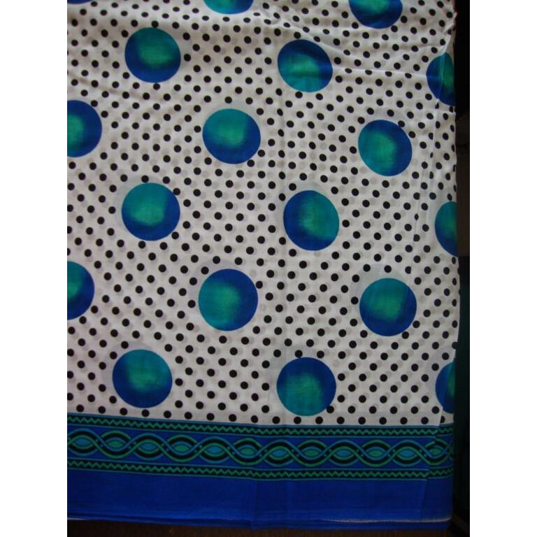 100% Soft PURE COTTON border design fabric for Kurti PC021
