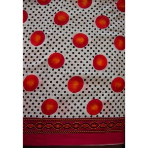 100% Soft PURE COTTON border design fabric for Kurti PC023
