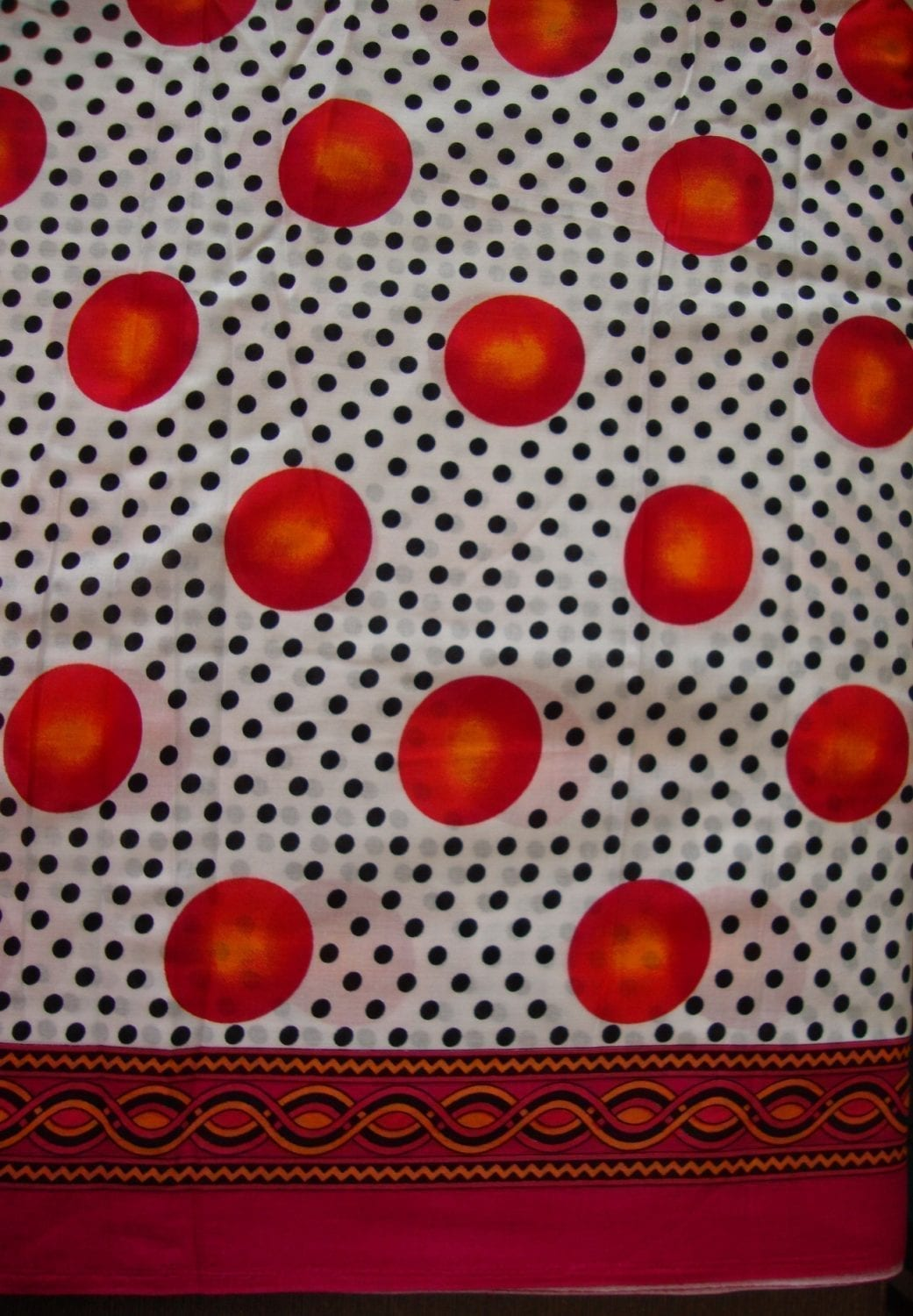 100% Soft PURE COTTON border design fabric for Kurti PC023 1