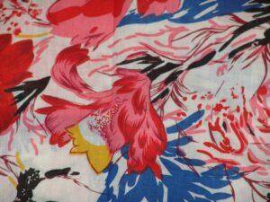 100% Soft PURE COTTON PRINTED fabric (per meter price)  PC077