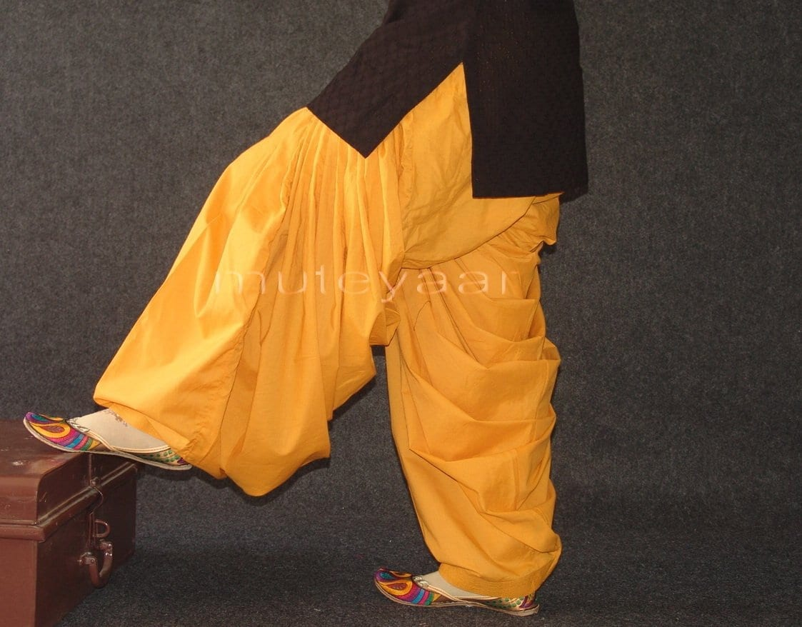 Mustard 100% PURE COTTON PATIALA SALWAR from Patiyala city !! 2