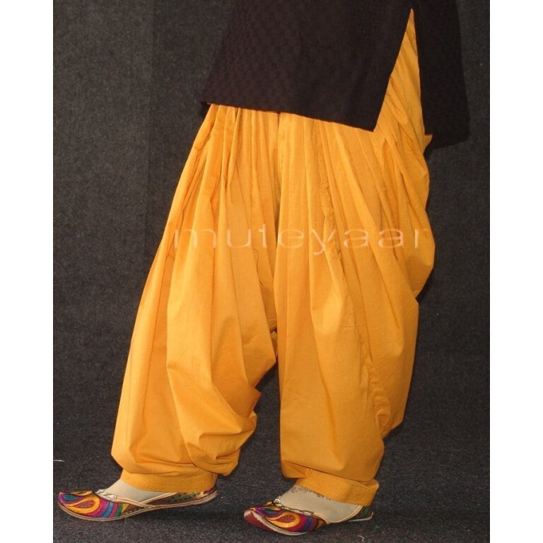 Mustard 100% PURE COTTON PATIALA SALWAR from Patiyala city !!