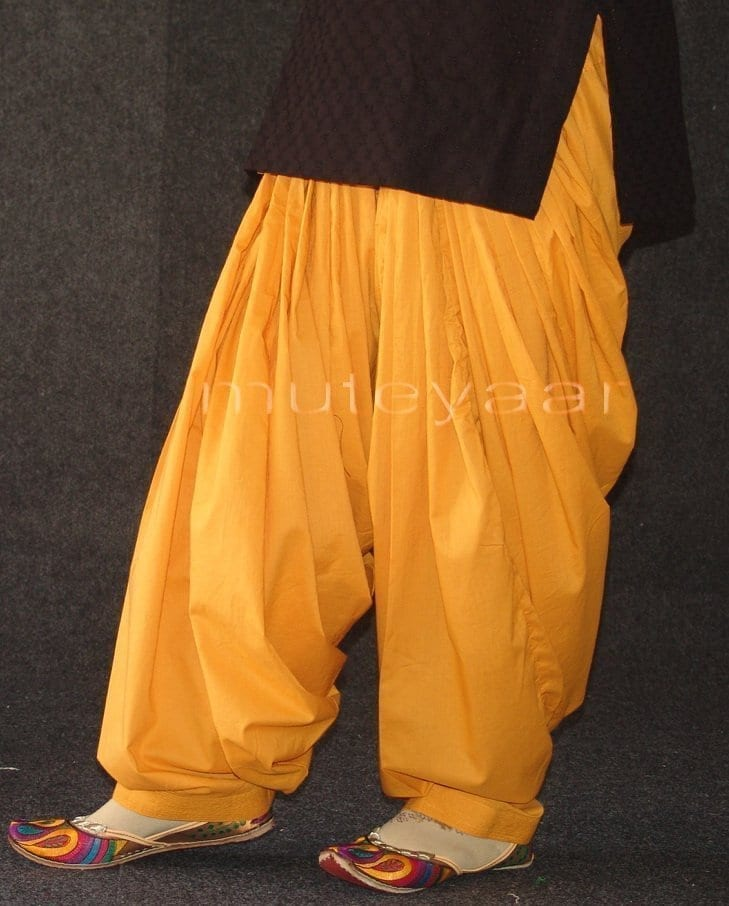 Mustard 100% PURE COTTON PATIALA SALWAR from Patiyala city !! 3