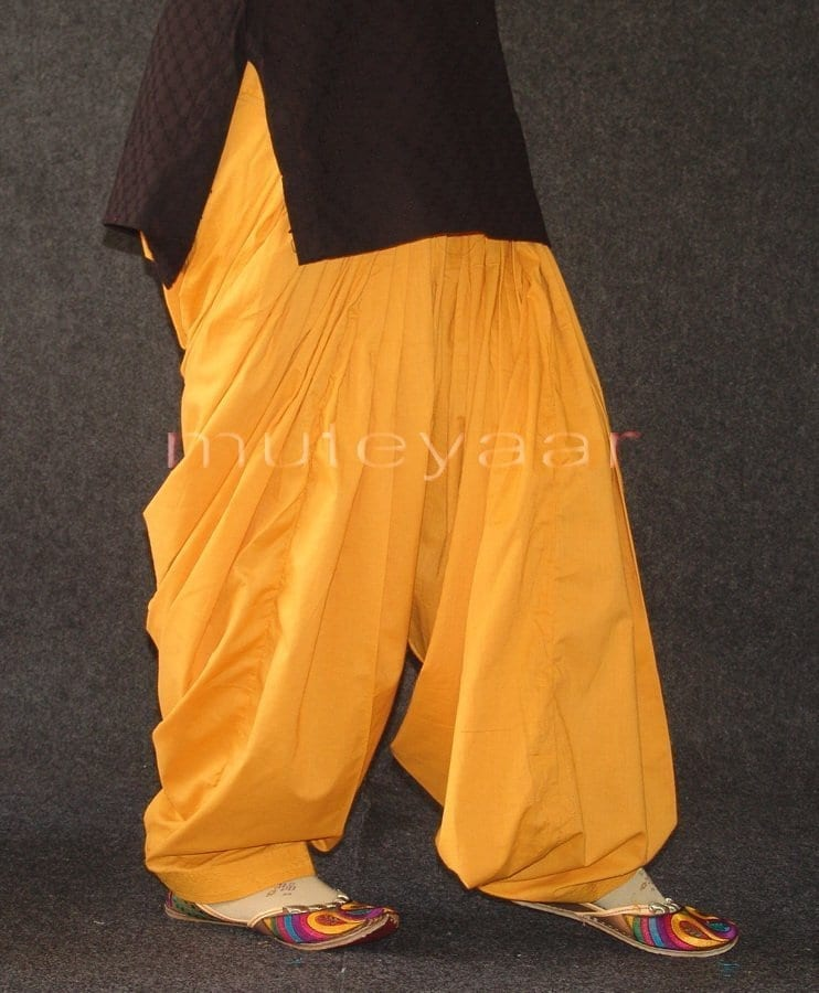 Mustard 100% PURE COTTON PATIALA SALWAR from Patiyala city !! 4