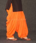 ORANGE 100% PURE COTTON PATIALA SALWAR from Patiyala city !!