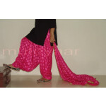 Hot Pink Magenta PHULKARI Patiala Salwar with matching Dupatta PHS01