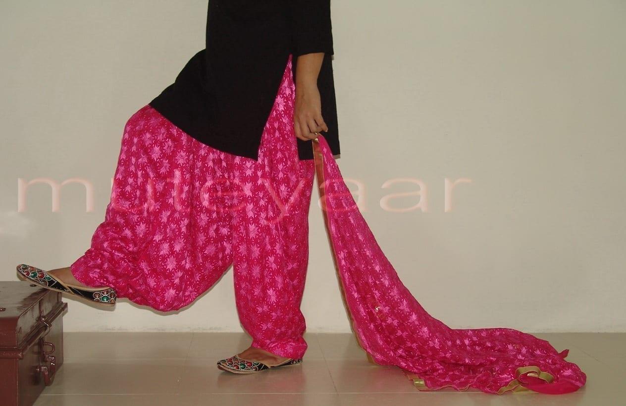 Hot Pink Phulkari Salwar Dupatta PHS01 4