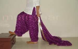 Embroidered PHULKARI Patiala Salwar with matching Dupatta PHS02