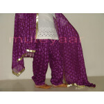Embroidered PHULKARI Patiala Salwar with matching Dupatta PHS02