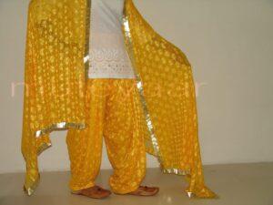 Embroidered PHULKARI Patiala Salwar with matching Dupatta PHS03