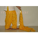 Yellow Phulkari Patiala Salwar Dupatta PHS03