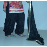 JET BLACK PHULKARI Patiala Salwar with matching Dupatta PHS10
