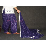 Dark Blue PHULKARI Patiala Salwar with matching Dupatta PHS12