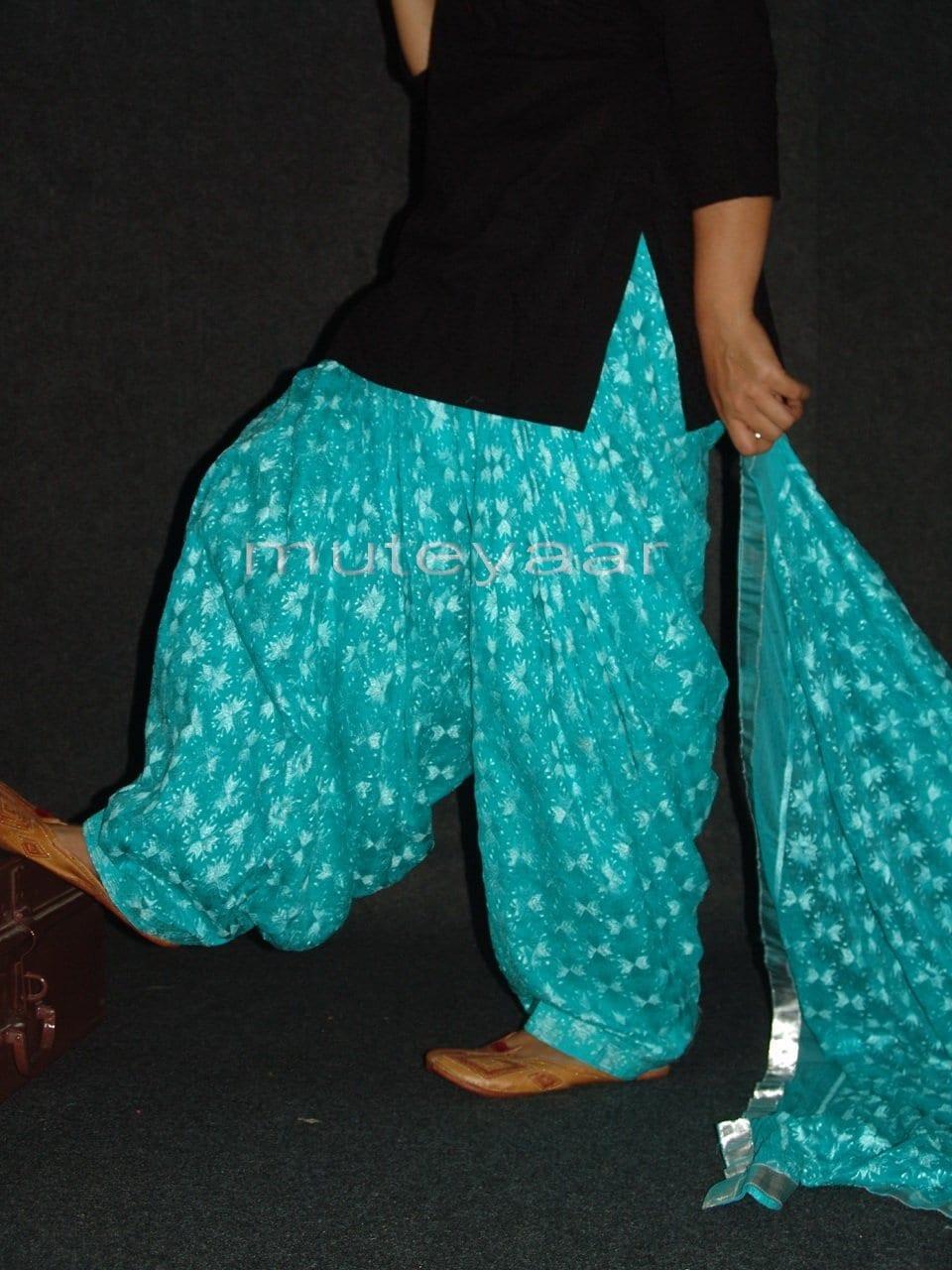 Light Blue Phulkari Patiala Salwar Dupatta PHS16 4
