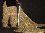 Golden Fawn PHULKARI Embroidered Patiala Salwar with matching Dupatta PHS17