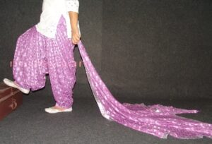 Mauve PHULKARI Embroidered Patiala Salwar with matching Dupatta PHS20