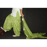 Pista Green PHULKARI Embroidered Patiala Salwar with matching Dupatta PHS22