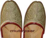 L. Golden Handmade Leather Punjabi Jutti Shoes for MEN PJ9731