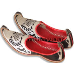 Silver Embroidery BHANGRA punjabi jutti shoes for MEN PJ9735