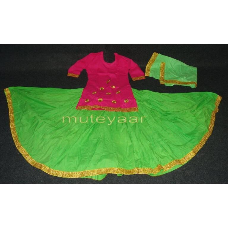 Parrot Magenta custom made GIDDHA  Costume outfit dance dress