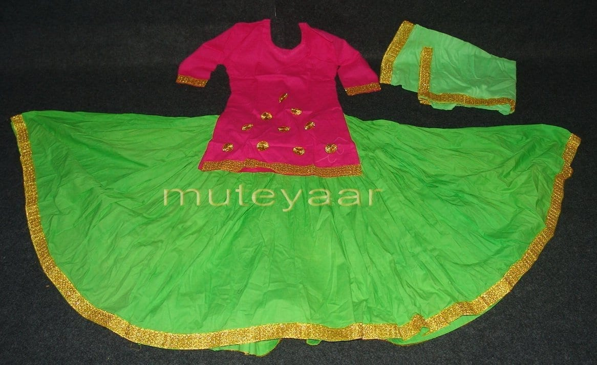 Parrot Magenta custom made GIDDHA  Costume outfit dance dress 2