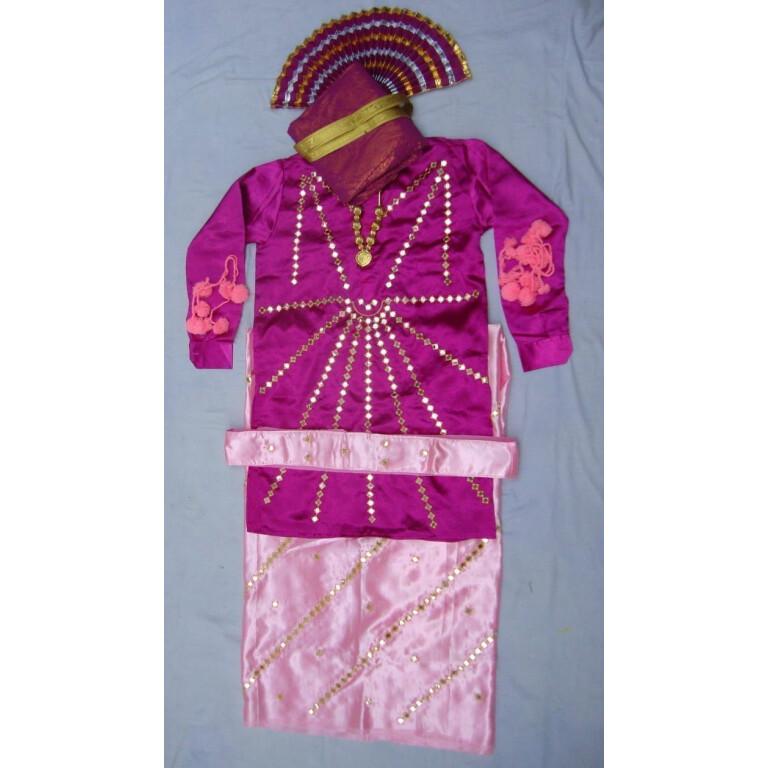 Heavy Mirror Work Bhangra dance costume dress - custom made !!
