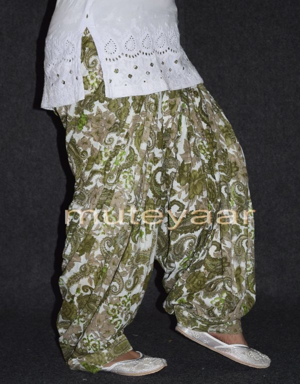 Limited Edition Printed 100%  Pure Cotton Full Patiala Salwar PPS109
