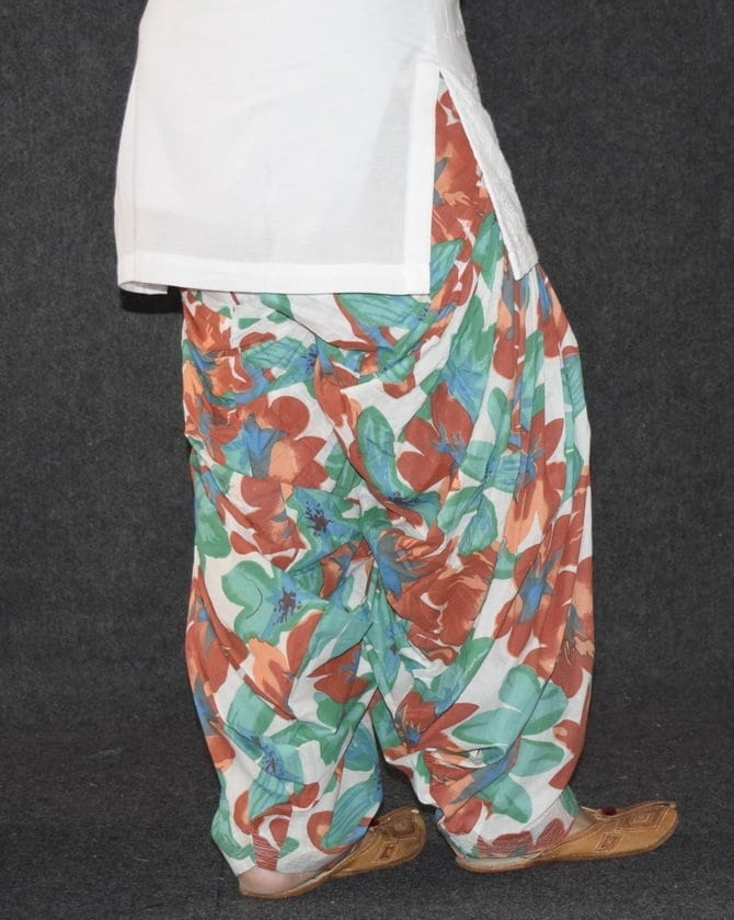 Limited Edition Printed 100%  Pure Cotton Full Patiala Salwar PPS126 3