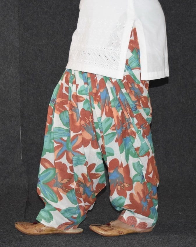Limited Edition Printed 100%  Pure Cotton Full Patiala Salwar PPS126 4