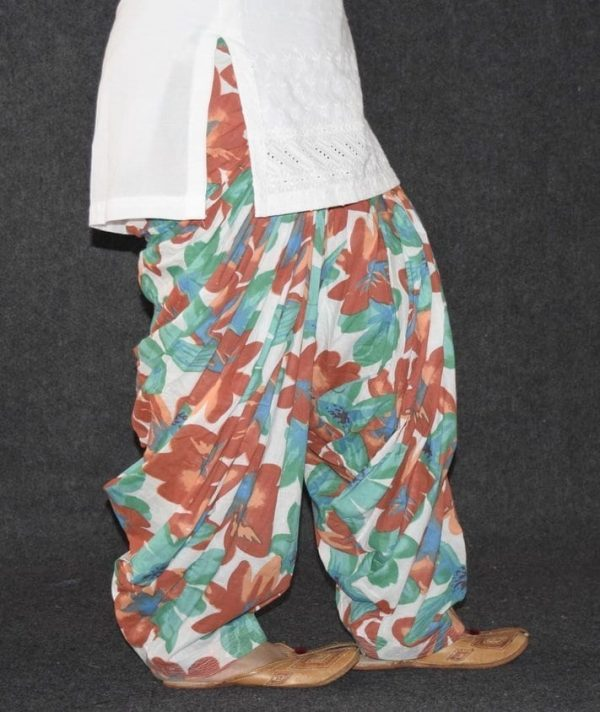 Limited Edition Printed 100%  Pure Cotton Full Patiala Salwar PPS126