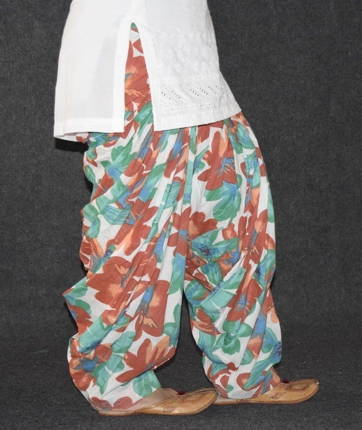 Limited Edition Printed 100%  Pure Cotton Full Patiala Salwar PPS126 5
